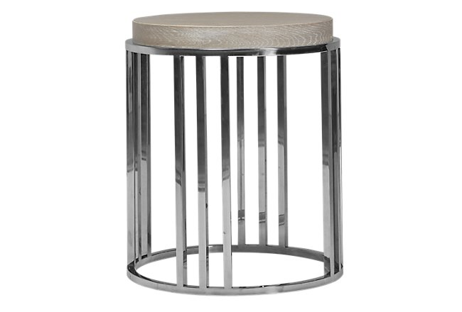 Zephyr Light Tone Wood Round End Table