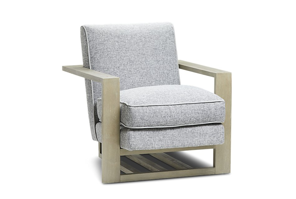 Stupendous Teague Gray Accent Chair Living Room Accent Chairs Squirreltailoven Fun Painted Chair Ideas Images Squirreltailovenorg