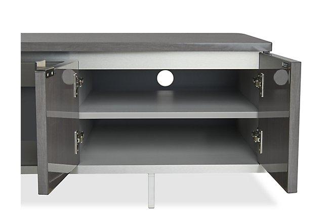 Athena Dark Gray Wood TV Stand