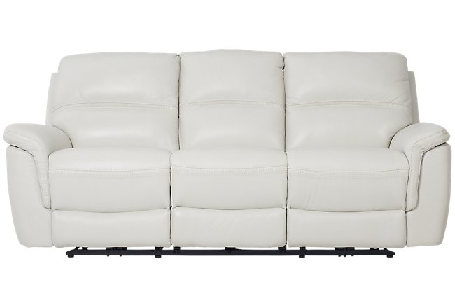 Terrific Weston Light Gray Lthr Vinyl Power Reclining Sofa Living Bralicious Painted Fabric Chair Ideas Braliciousco