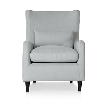 Fremont Light Blue Fabric Accent Chair | Living Room ...