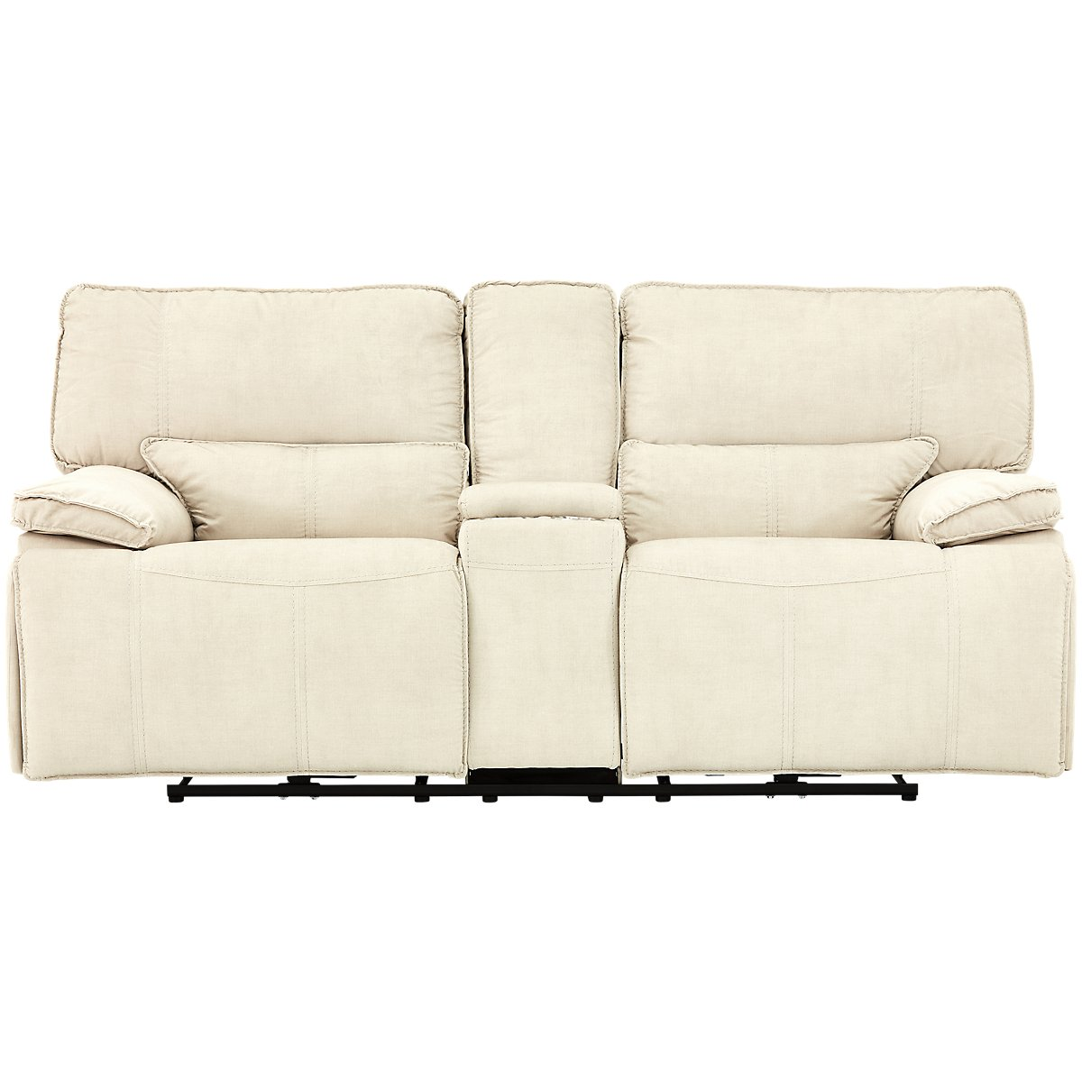 Reclining Console Sofa Nathanielhome Benjamin Leather Reclining Sofa With Console Thesofa