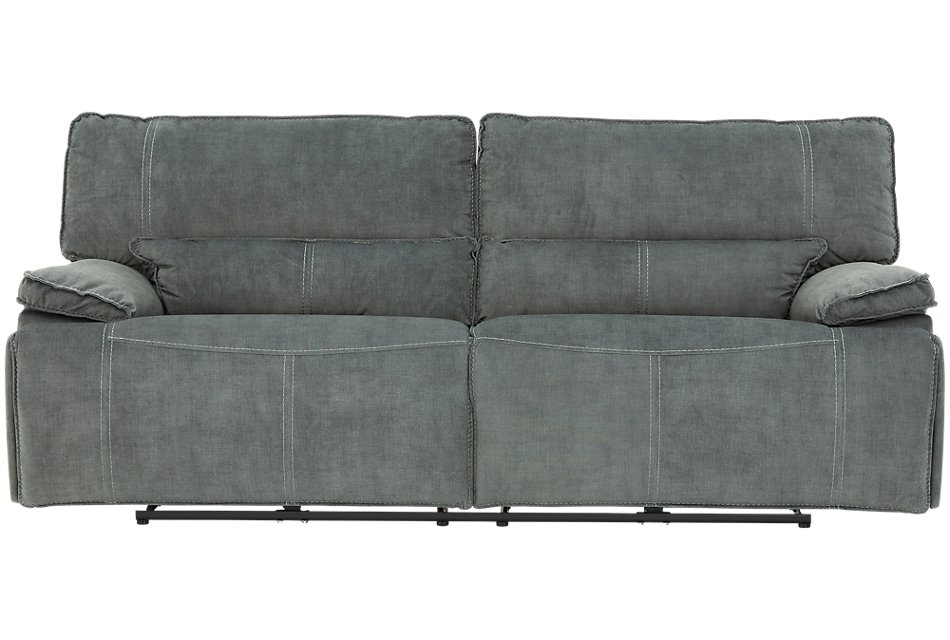 Jesse Dark Gray Micro Power Reclining Sofa | Living Room ...