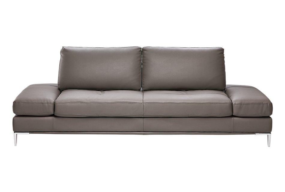 Camden Dark Gray Microfiber Sofa | Living Room - Sofas ...