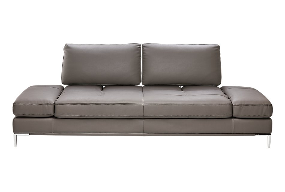 Camden Dark Gray Microfiber Sofa | Living Room - Sofas ...