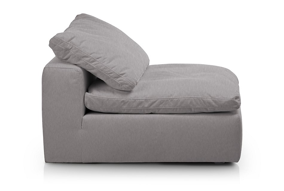Nixon Light Gray  Fabric Armless Chair