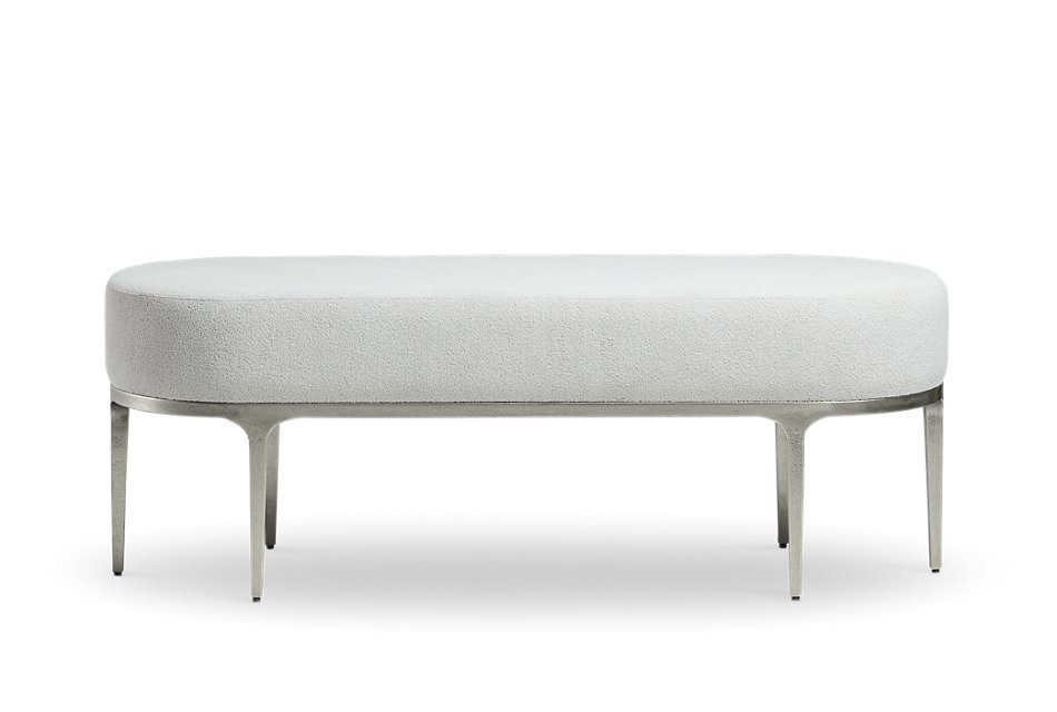 Linea Upholstered Metal Bench | Bedroom - Benches | City ...