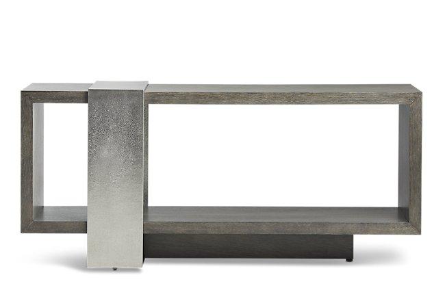 Linea Dark Tone Wood Console Table