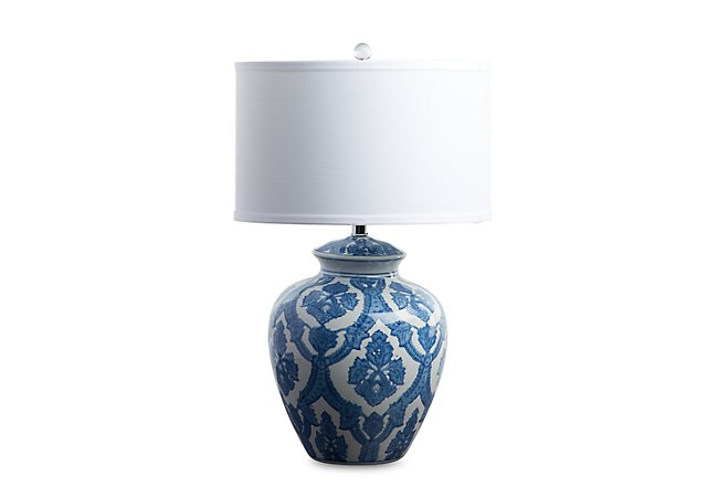Cam Blue Table Lamp