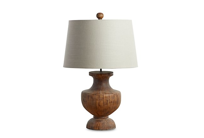 Stella Brown Wood Table Lamp