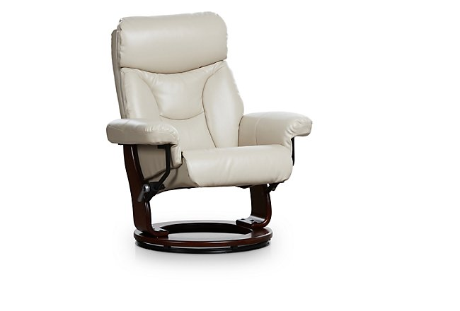 Fisher Taupe Microfiber Recliner & Ottoman