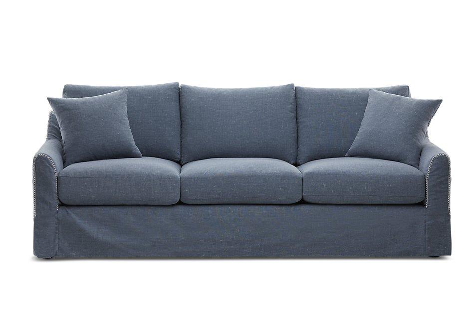 Madelyn Blue Fabric Sofa | Living Room - Sofas | City Furniture