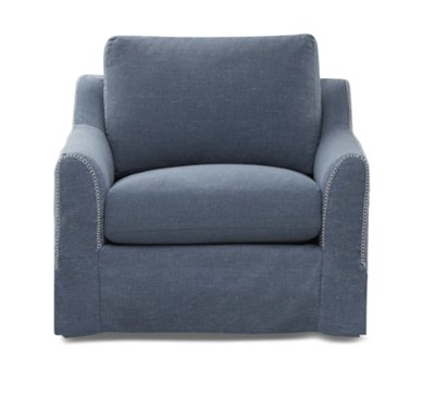 Madelyn Blue Fabric Swivel Chair Madelyn Blue Fabric Swivel Chair