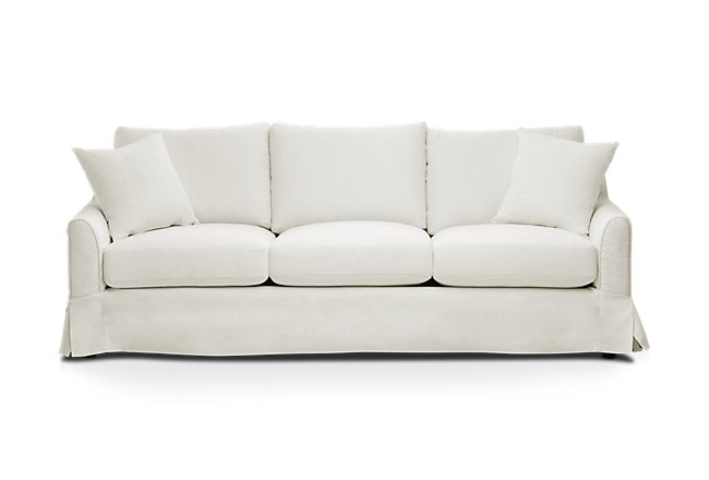 Madelyn Light Beige Fabric Sofa