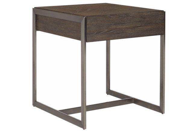 Tacoma Dark Tone Metal End Table
