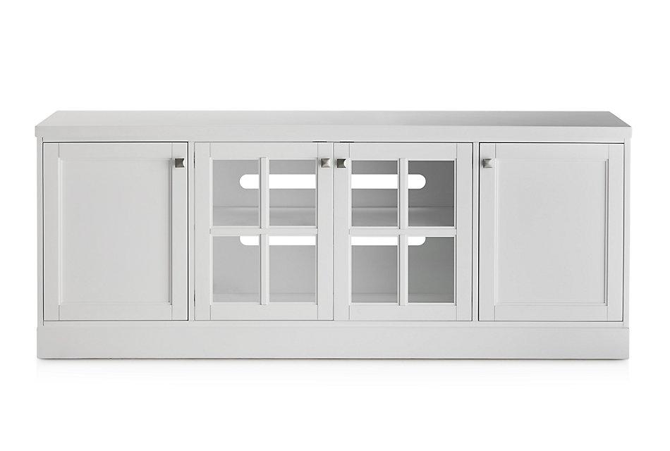 "Newport WHITE 76"" TV Stand"