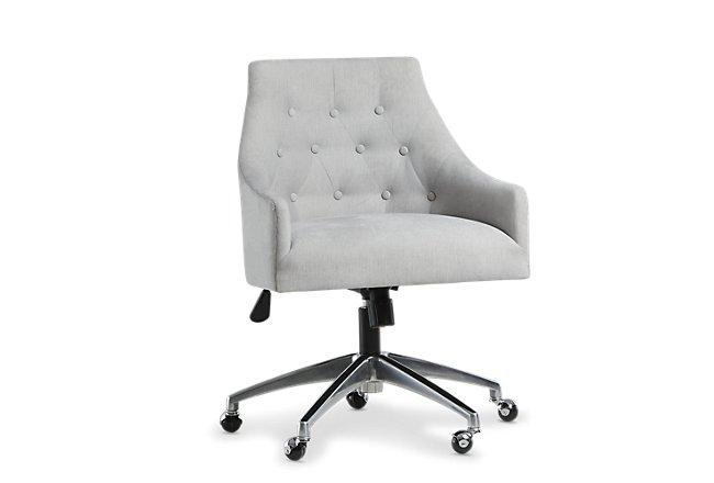 Newport Gray Metal Upholstered Desk Chair | Home Office ...
