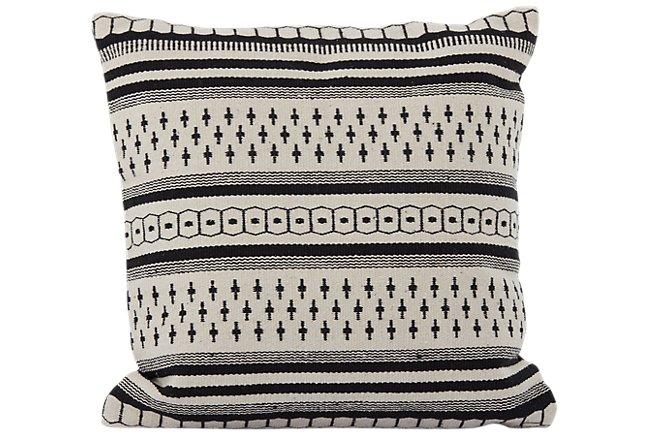 Alice Black Accent Pillow