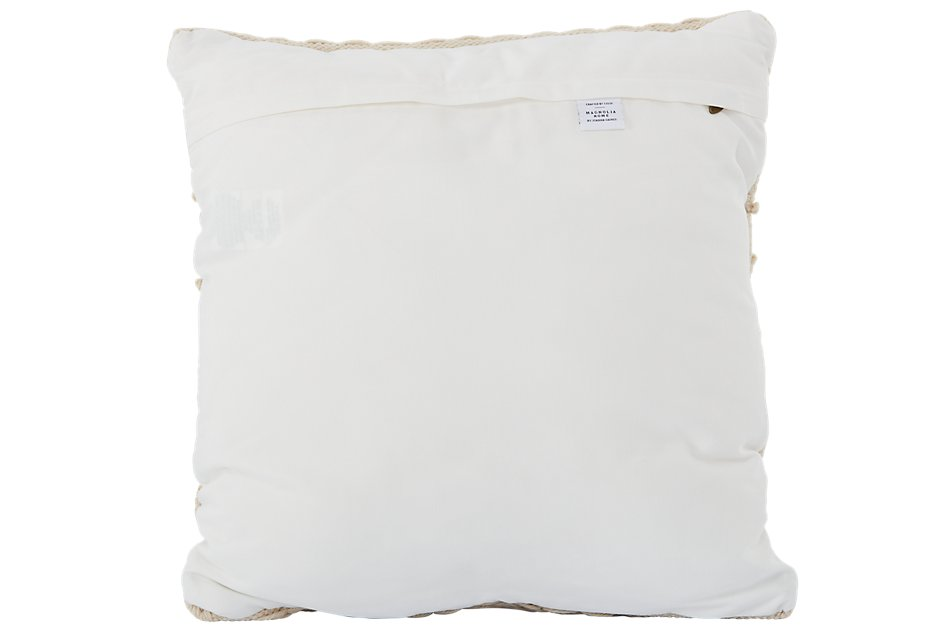 "Bonni Ivory 22"" Accent Pillow"