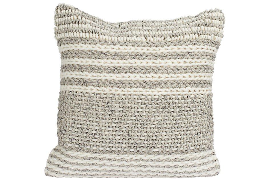 "Jessa Gray 22"" Accent Pillow"