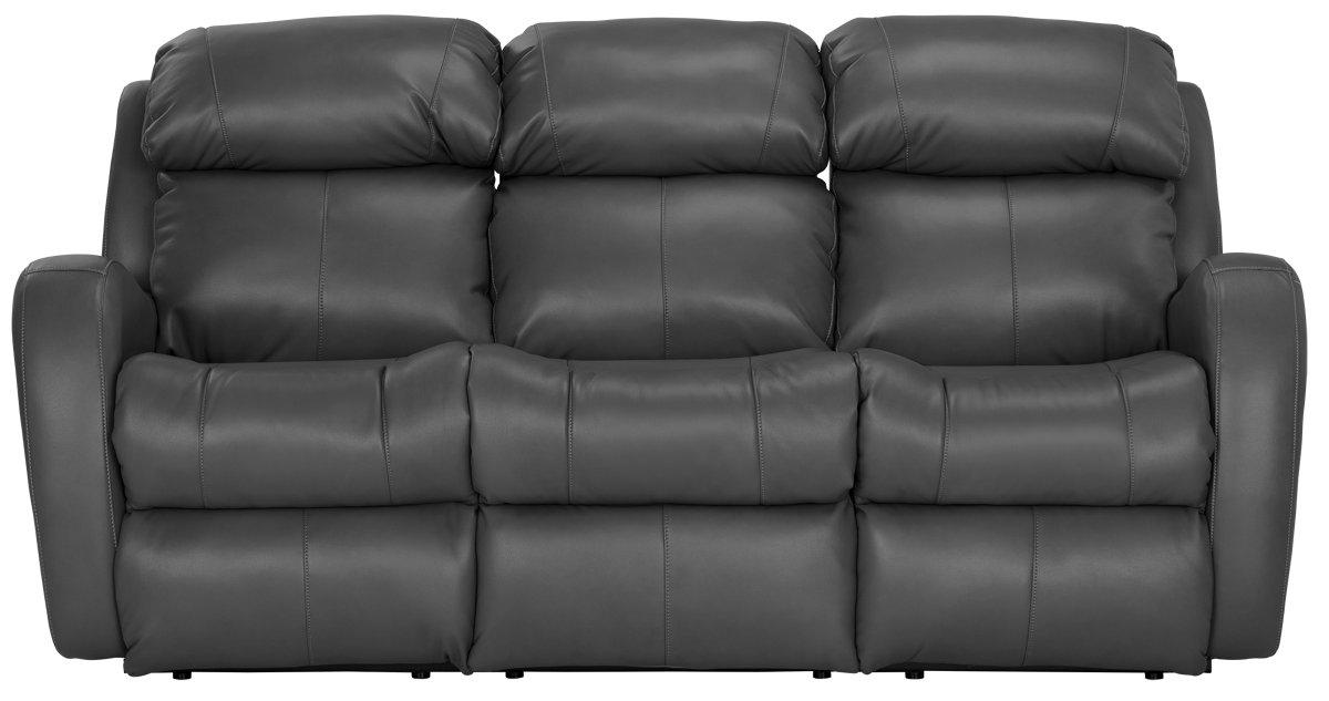 Finn Gray Microfiber Reclining Sofa