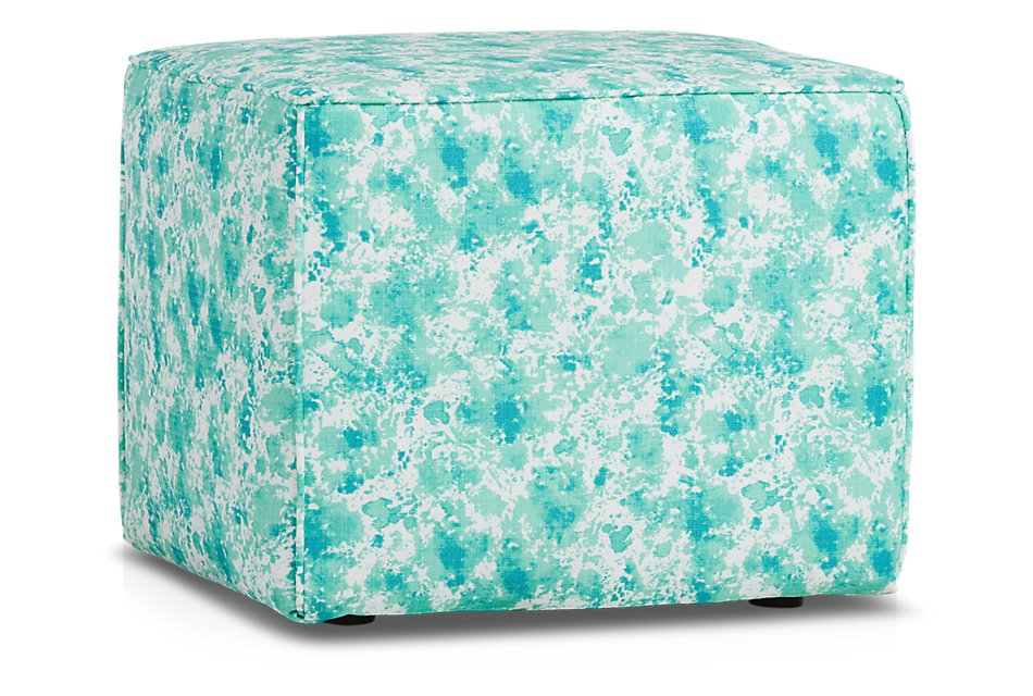 Shore BLUE ACCENT Indoor/Outdoor Accent Ottoman