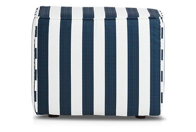 Stripe Blue Stripe Indoor/Outdoor Accent Ottoman