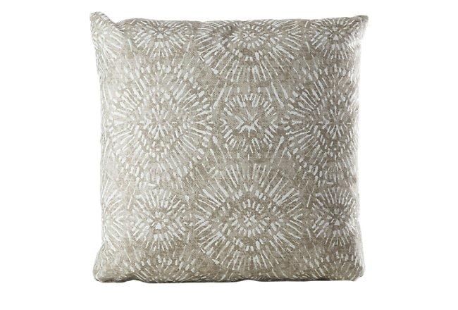 """Borneo Gray 20"""" Indoor/outdoor Accent Pillow"""