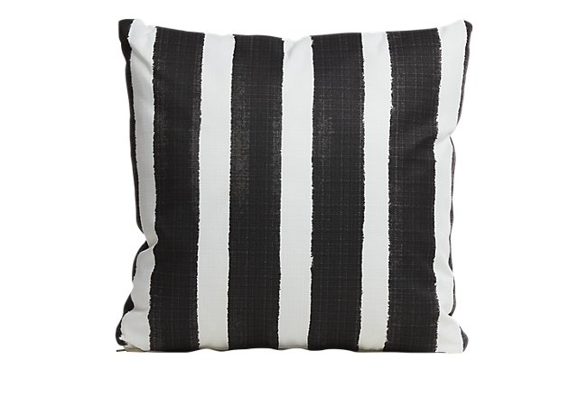"Nico Black 20"" Indoor/Outdoor Accent Pillow"