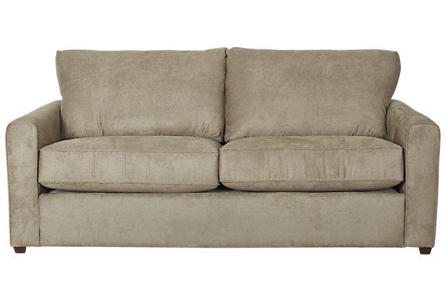 Paige Dark Green Microfiber Sofa | Living Room - Sofas | City Furniture