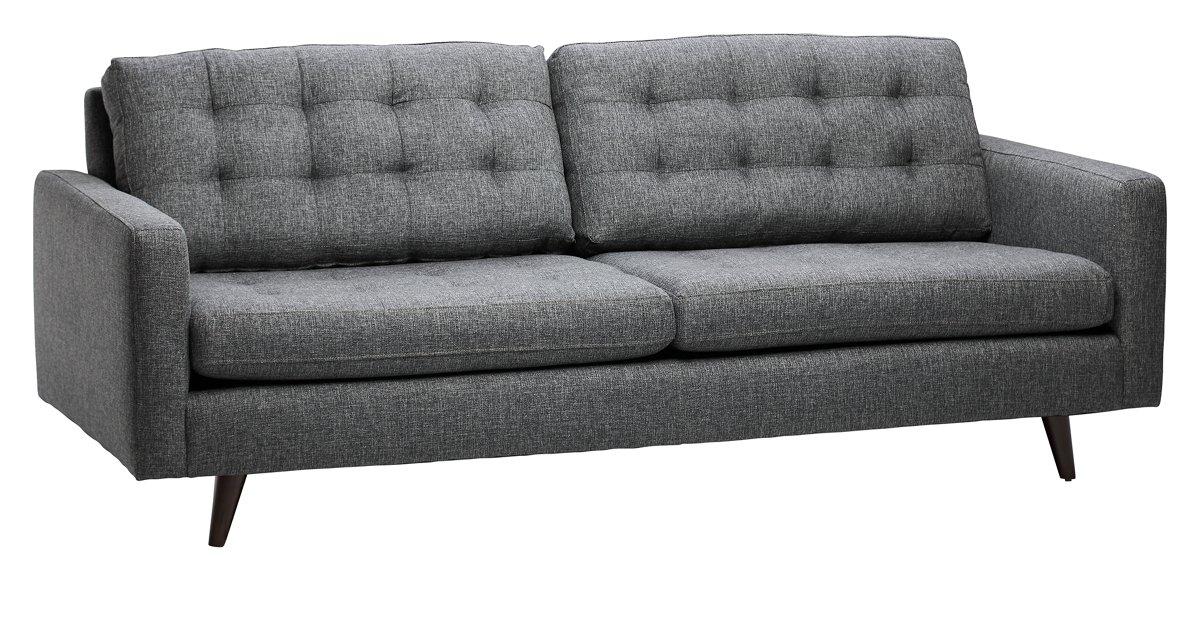 Gwen Dark Gray Fabric Sofa