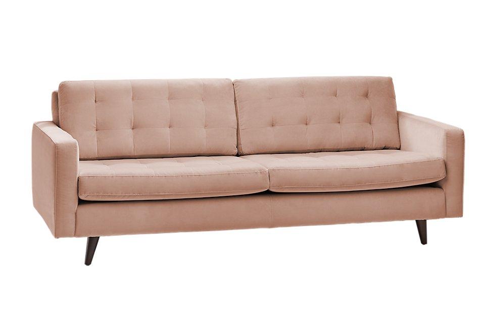 Remarkable Mila Light Pink Velvet Sofa Living Room Sofas City Andrewgaddart Wooden Chair Designs For Living Room Andrewgaddartcom