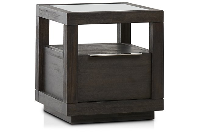 Madden Dark Tone Wood End Table
