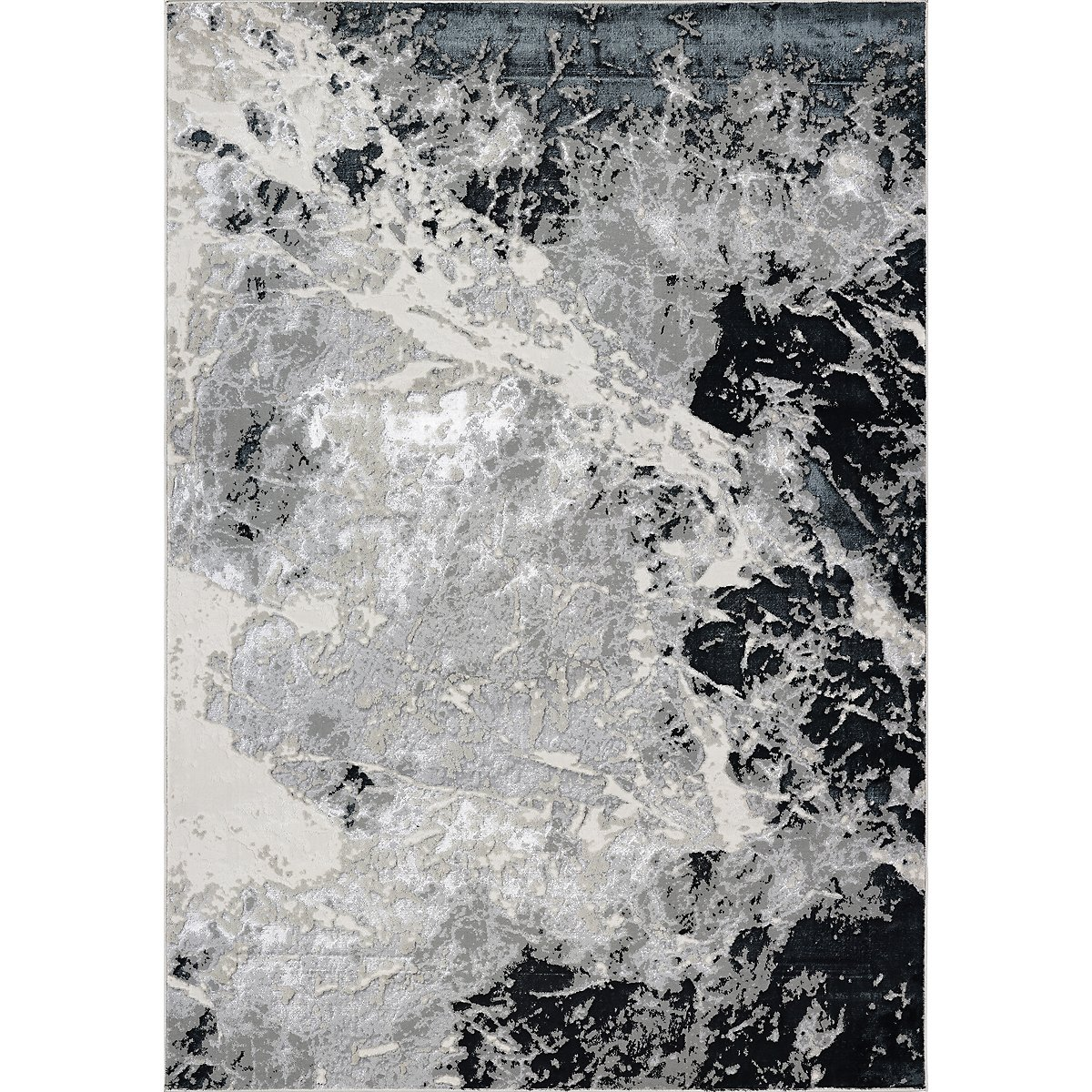Frenzy Silver Wool Blend 8x10 Area Rug Home Accents Rugs City