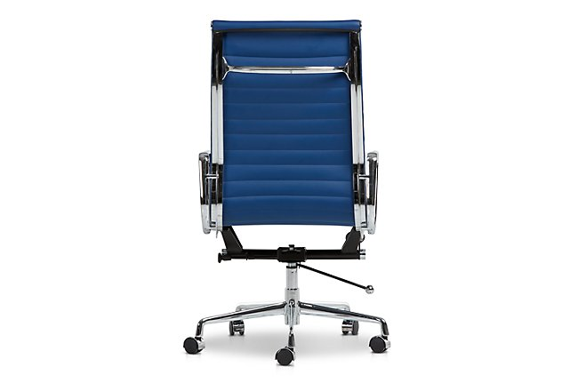 Amos Dark Blue Desk Chair