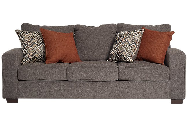 Chase Dark Gray Microfiber Sofa