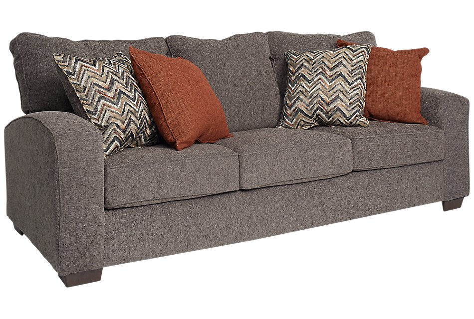 Peachy Chase Dark Gray Microfiber Sofa Inzonedesignstudio Interior Chair Design Inzonedesignstudiocom