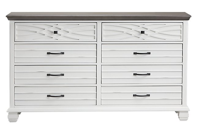 Bellbrook White Wood Dresser