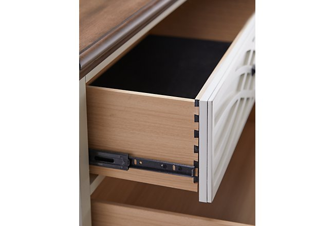 Bellbrook White Wood Drawer Chest