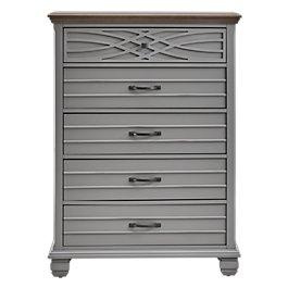 59656ff7d0e Bellbrook Gray Wood Drawer Chest