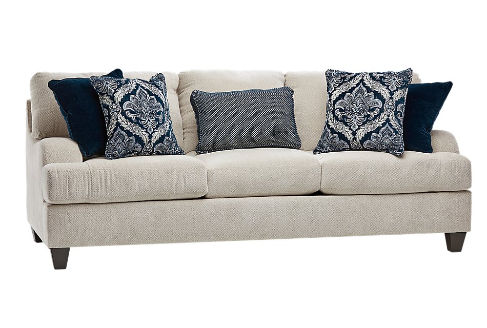 Evelyn Light Beige  Fabric Sofa