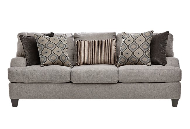 Evelyn Taupe Fabric Sofa