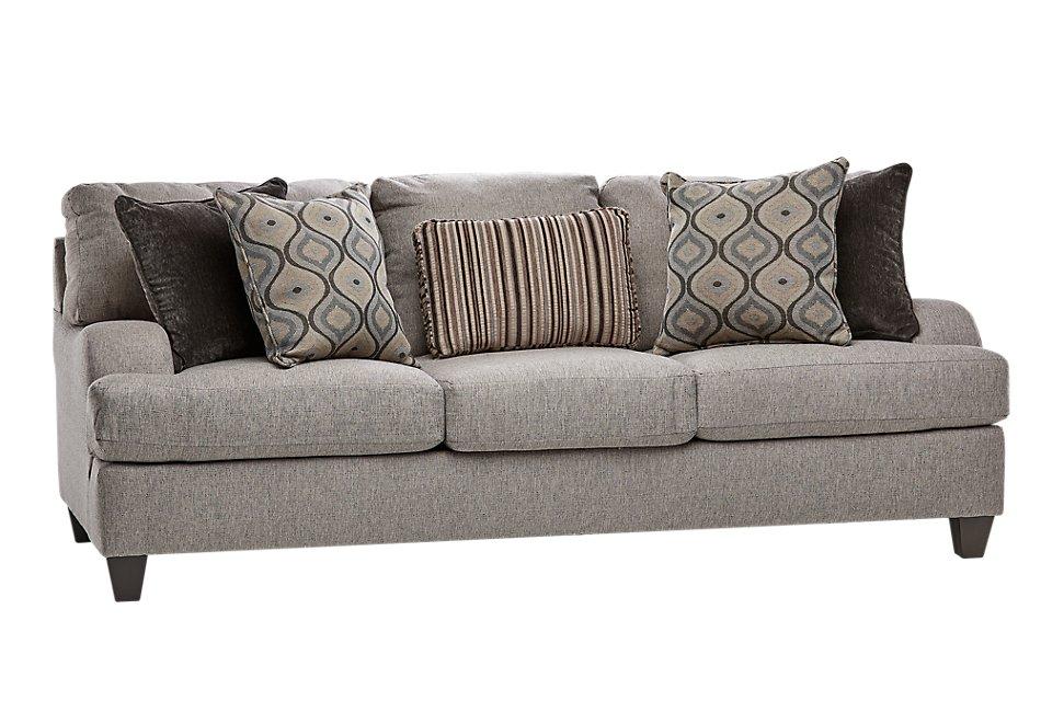 Evelyn Taupe Fabric Sofa