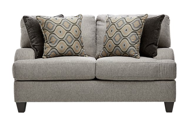 Evelyn Taupe Fabric Loveseat