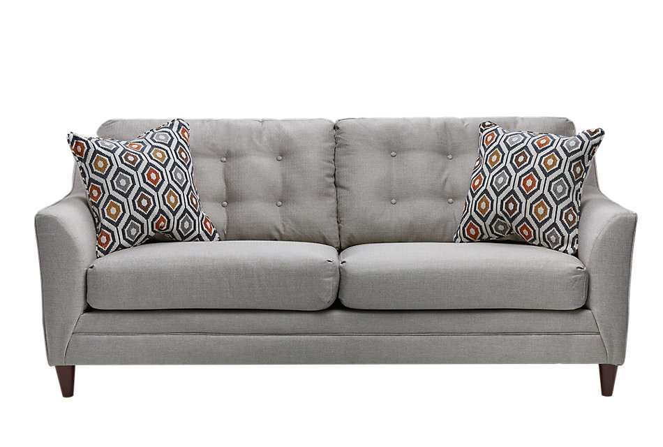 Fantastic Jensen Light Gray Fabric Sofa Living Room Sofas City Alphanode Cool Chair Designs And Ideas Alphanodeonline
