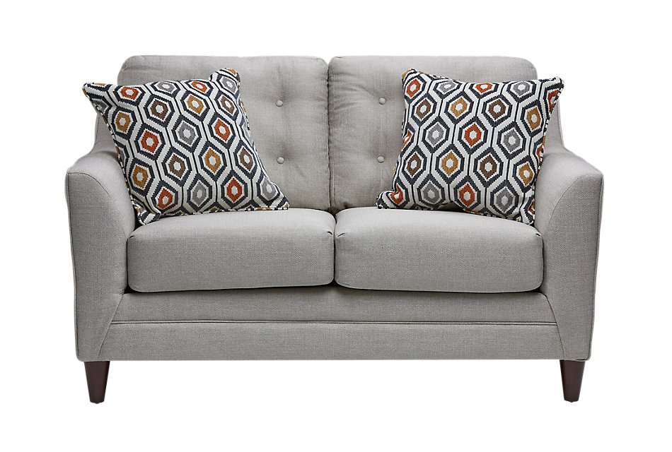 Magnificent Jensen Light Gray Fabric Loveseat Living Room Loveseats Gmtry Best Dining Table And Chair Ideas Images Gmtryco