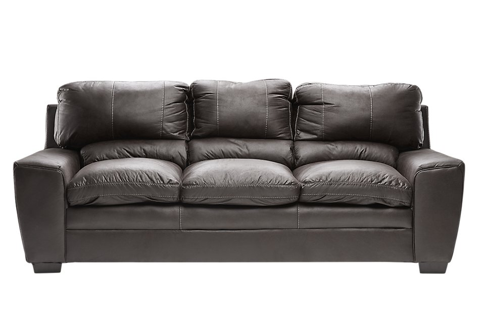 Verona Dark Gray Microfiber Sofa | Living Room - Sofas ...