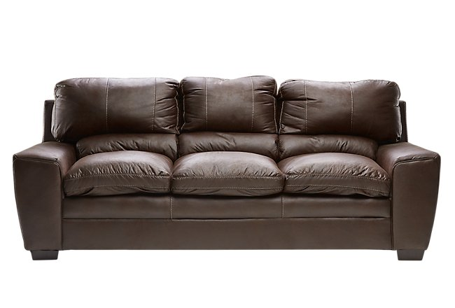 Verona Dark Brown Microfiber Sofa | Living Room - Sofas | City Furniture