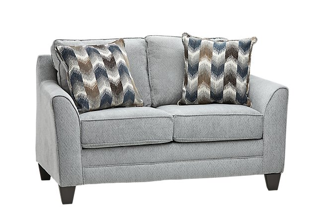 Charlie Light Gray Fabric Loveseat