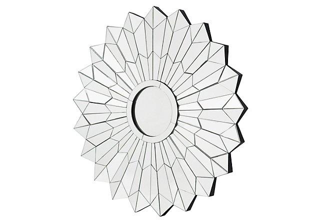 Daisy Silver Mirrored Mirror